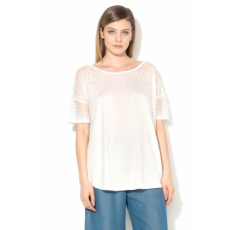 FRENCH CONNECTION Space Fehér Póló Áttetsző Részlettel XL (76HCU-SUMMER-WHITE-XL)