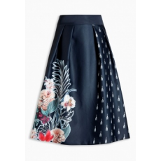 Next TBC NEXT Navy Floral Full Skirt 8 (727595-BLUE-8)