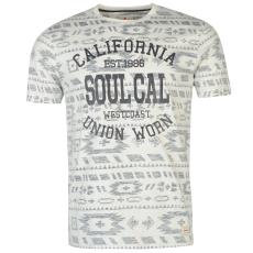 Soul Cal Póló SoulCal Deluxe Reverse Aztec fér.