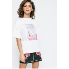 Missguided Top Printed Be There In 5 Mins Barbie x Missguided