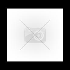 Kivágott, cipzáros lakk fűző (fekete) (M)