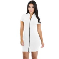 Fehér,cipzáros ruha