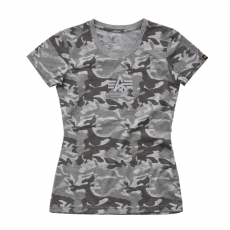 Alpha Industries Basic T Női - grey camo