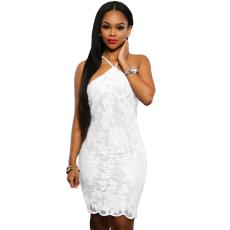 Fehér,virágos party ruha
