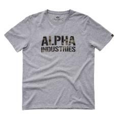 Alpha Industries Camo Print T - szürke/woodcamo