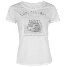 SoulCal Deluxe Photographic női póló fehér XS
