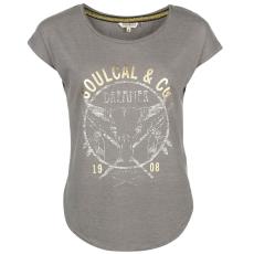 SoulCal Fashion Logo női póló sötétszürke L