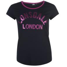 Lonsdale Logo női póló tengerészkék XS