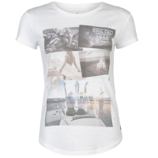 SoulCal Deluxe Photographic női póló fehér M