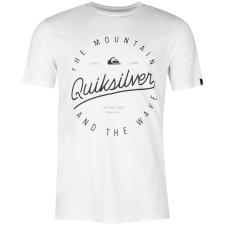 Quiksilver Script férfi rövid ujjú póló fehér L
