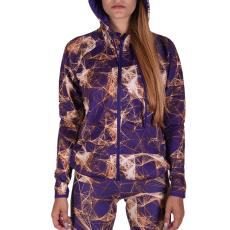 Adidas Gym Fz Hoodyaop női cipzáras pulóver lila L