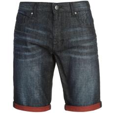 Firetrap Turn Up férfi farmer rövidnadrág piros XL