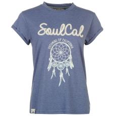 SoulCal Fashion Logo női póló kék XL