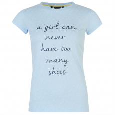 Requisite Slogan női póló világoskék M