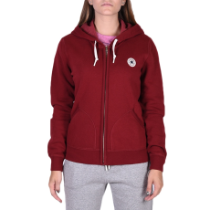 Converse Core Full Zip Hoodie női cipzáras pulóver bordó S