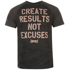 Tapout Results férfi póló fekete S