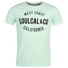 SoulCal Logo férfi póló világoskék S