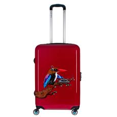 BG Berlin Tropical Sound Red Urbe 24 Inch - közepes bőrönd piros 24 inch