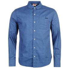 Lee Cooper Textile férfi hosszú ujjú pamut ing kék XL