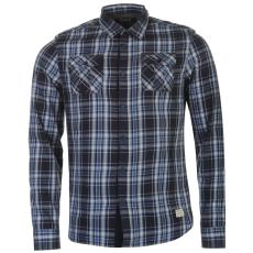 Firetrap Blackseal férfi kockás ing kék L