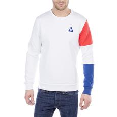Le Coq Sportif Tri Sp Bbr Cotton Tech Crew Sweat férfi kapucnis pulóver fehér M