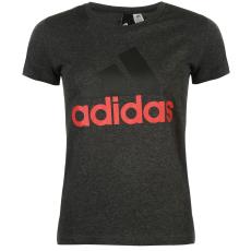 Adidas Linear QT női póló sötétszürke M