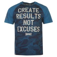 Tapout Results férfi póló tengerészkék XXL