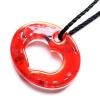 Ragyogj.hu Muránói üveg medál, szív alakú lyukkal - piros