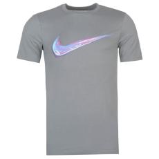 Nike Streak Swoosh QTT férfi póló szürke L