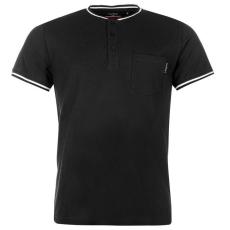 Pierre Cardin Pique Henley férfi póló fekete M