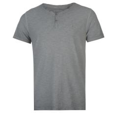 Pierre Cardin Lee Cooper Yarn Dye férfi V nyakú pamut póló sötétszürke XL