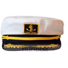 Kapitány sárga zsinóros,fix 58 méretű sapka