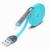 Apple Lightning + microUSB iPhone 5 5C 5S 6 6S 7 Plus / iPad 4/ iPad Mini/ iPod Touch 5 USB 1m töltő- és adatkábel kék utángyártott