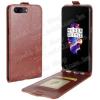 egyéb SLIM FLIP tok - BARNA - lefelé nyíló, rejtett mágneses záródás, szilikon belsõ, bankkártya tartó, elõlapi hangszóró nyílás - OnePlus 5