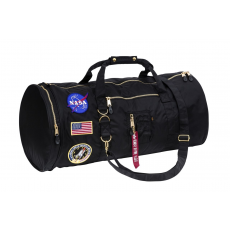 Alpha Industries FLIGHT DUFFEL BAG NASA - fekete