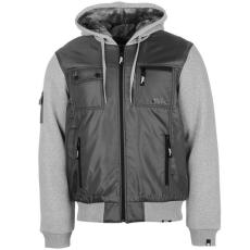 No Fear Lined férfi kapucnis cipzáras kabát sötétszürke 4XL
