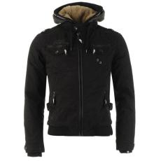 No Fear Férfi kapucnis cipzáras kabát fekete S