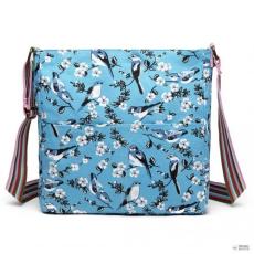 Miss Lulu London L1104-16J - Miss Lulu szögletes táska Bird Print kék