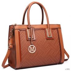 Barna Miss Lulu London LT6622 - Miss Lulu emelt válltáska táska barna