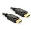 DELOCK kábel Displayport 1.2 apa-apa összekötő 4K, 2m - DL82585