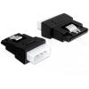 DELOCK Molex 4pin Apa - SATA 15pin Anya adapter - fekete (82325)