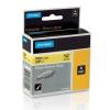 Dymo Rhino 18054, S0718290, 9mm x 1,5m fekete nyomtatás / sárga alapon, eredeti szalag