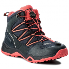 CMP Bakancs CMP - Kids Sirius Mid Hiking Shoes Wp 3Q48364J Antracite/Red Fluo 95BD