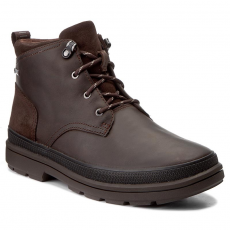 Clarks Csizmák CLARKS - Rushwaymid Gtx 261302527 Dark Brown Leather