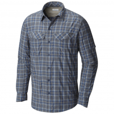 Columbia Silver Ridge Plaid Long Sleeve Shirt Ing D (1441321-r_478-Dark Mountain)