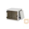 """TRITON RUA-09-AS6 9U magas 19""""-os 595mm mély fali rack szekrény, levehető és zárható oldalfalakkal"""