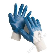 Cerva HARRIER mártott nitril kesztyű, kék