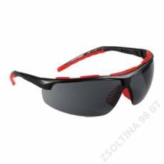 Lux Optical® STREAMLUX színezett karcmentes védőszemüveg, fekete szárral