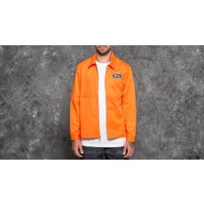 STUSSY Full Zip Work Longsleeve Shirt Orange