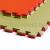 Saman Tatami, 1m*1m*4cm, Doitsu, zöld-piros
